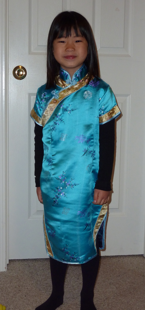Megan in Chinese dress