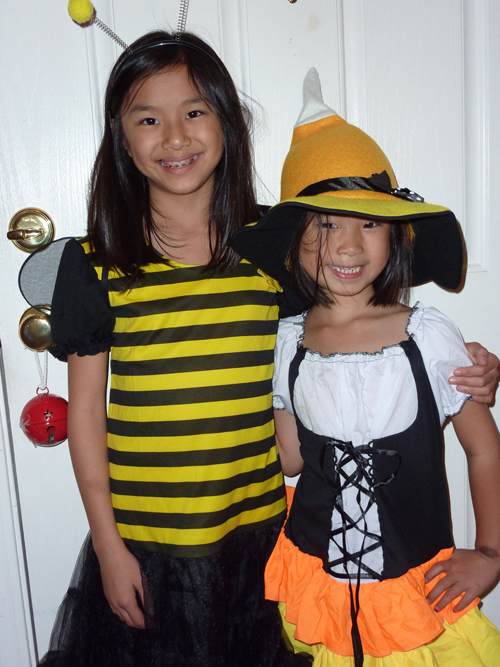 Emily and Megan in Halloween 2011 costume